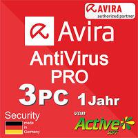 Avira Antivirus Pro 2018 3 PC 1Jahr | VOLLVERSION | AntiVirus NEU Deutsch-Lizenz