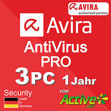 Avira Antivirus Pro 2019 3 PC 1Jahr | VOLLVERSION | AntiVirus NEU Deutsch-Lizenz
