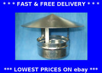 Roof cowl chinamans hat galvanised steel metal chimney cover rain cap ducting