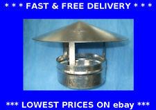 Roof cowl, chinamans hat, galvanised steel, chimney rain cap, ducting