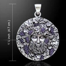 Oberon Zell Bacchus Dios de Vino Plata de Ley Colgante By Peter Stone
