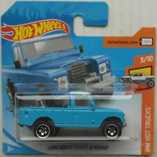 Hot Wheels Land Rover Series III Pickup blau Dach weiß Neu/OVP Geländewagen HW