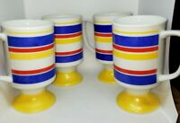 Vintage Set Of 4 Colorful Coffee Cups
