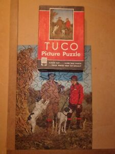 Vintage Jigsaw Puzzle Tuco Let's Go20412x16Complete hunting dogs