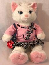 "Build A Bear White Kitty Cat Stuffed Animal Plush Toy 19"""