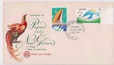 Stamps 1975 PNG Independence pair WCS Wesley bird cachet FDC Adelaide postmark