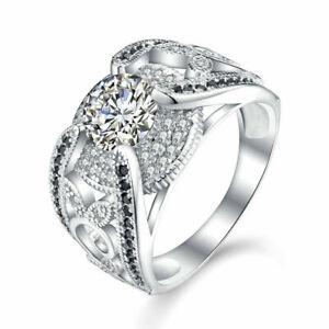 EINMALIG AUKTION Massive Damen Ring 925er Sterling Silber Spinell Zirkonia AAA