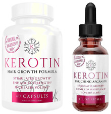 Kerotin Hair Growth Vitamins & Enriching Argan Oil treatment BUNDLE - FREE POST!