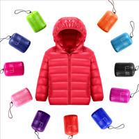 New Winter Kids Hooded Warm Children Coat Jacket Boys Girls Duck Down Snowsuit