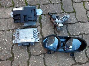 FORD FIESTA MK7 3 DOOR 1242CC SNJA ENGINE ECU AND STEERING LOCK KEY DASH