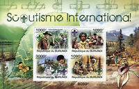 Burundi Scouting Stamps 2011 MNH Boy Girl Scouts Baden-Powell Orchids 4v M/S
