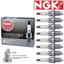 8 - NGK V-Power Plug Spark Plugs 2000-2007 Dodge Dakota 4.7L V8 VIN P Kit Set