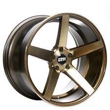 "4pcs 20"" Staggered STR Wheels 607 Titanium Rims"