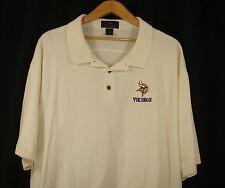 Antigua Minnesota Vikings Mens NFL Short Sleeve Light Yellow Polo Shirt 2XL 7de8d36f1