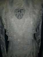 Vintage Wedding Dress  Demure By Jessica McClintock White Lace