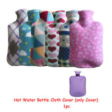 Soft Flannel Hot Water Bottles Cloth Cover Winter Warm Heat Cold Therapy