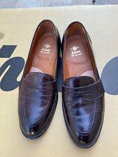 Alden New England Men Dress Shoe 684 Burgundy Full Strap Penny Loafer Sz 9.5 B-D