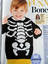 BOY'S Skeleton SWEATER/JUMPER ~ Sizes 1 - 5 years ~ Knitting Pattern ~ NEW