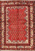 Paisley Hand-Knotted Semi Antique Geometric Hamadan Oriental Area Rug 3x5 Carpet