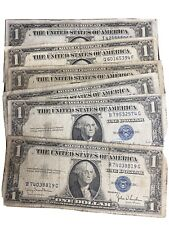 1935-D $1 ONE DOLLAR SILVER CERTIFICATE FROM VINTAGE ESTATE LOT BLUE SEAL