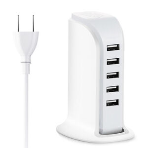 Universal 5 Port USB Dock Wall Charger For iPhone X 8 Plus Samsung S9 S8 S7 S6