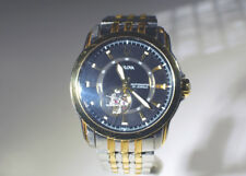 Bulova 96A108 Men's Stainless & Gold Plate Wrist Watch with Skeleton Works