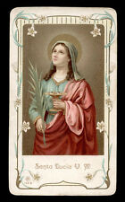 antico santino cromo-holy card S.LUCIA V.M. ediz. AR n.135b