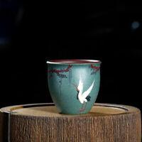 handmade tea cup handpainted master cup big 220ml personal cup real zisha crane