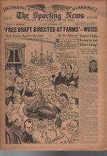 1957 The Sporting News 11/27/57 TSN Milwaukee Braves Mantle MVP