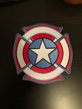 Fire Captain America Firefighter Patch