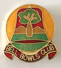 Bell Bowling Club Badge Pin Boab Treee Design Vintage Lawn Bowls (L20)