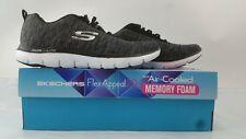 NEW! Skechers Women's Flex Appeal 2.0 Fashion Sneaker Black Size 9.5M US