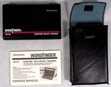 SelecTronics Wf-224 Word Finder for Parts Only or repair with case and manual