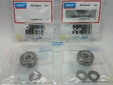 2x Revox Studer Precision SKF Tape guide bearings PR99 B77 and A77 Pair +6 Shims