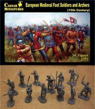 34 Figurines SOLDATS ET ARCHERS EUROPEENS AU COMBAT, CAESAR Miniatures n° 088