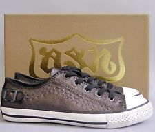 New with Box Ash Leather Sneakers Shoes~ Midnight Brown~ EUR38
