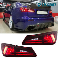 Full LED DRL Sequential Tail Light For 2006-2012 Lexus IS250 IS350 ISF Assembly