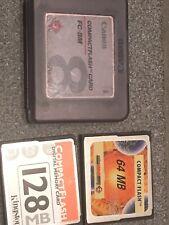3 Compact Flash Karten Cards. 8, 64 und 128 MB. Formatiert.
