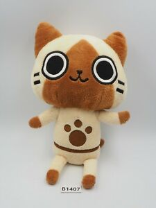 "Monster Hunter B1407 Airou Capcom Plush Stuffed 8"" Toy Doll Japan"