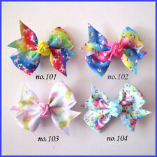 "1000 BLESSING Good Girl 2.5"" Wing Hair Bow Clip Unicorn Accessories Wholesale"
