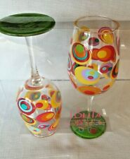 Set of 2 Lolita Fish Eyes Acrylic Wine Glasses NEW in PKG