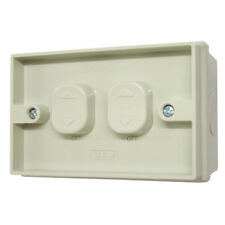Weatherproof Double Switch Two Gang Weather Proof IP56 Rating 2 WAY - OLD STYLE