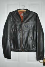 M&S Faux brown leather women's jacket size 16, used but very good condition