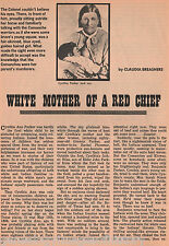 Cynthia Parker Story - White Baby Red Chief Genealogy
