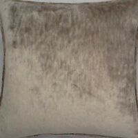 A 16 Inch Cushion Cover In Laura Ashley Caitlyn Silver / Biscuit Fabric