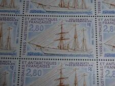 25 TIMBRES TAAF FEULLE COMPLETE VOILIER MIXTE KERGUELEN 1996 FACIALE 10,67 €.