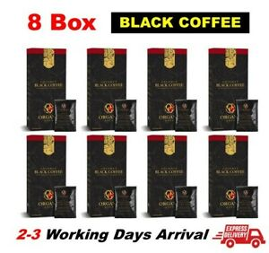 8 Box Organo Gold Gourmet Black Coffee Ganoderma Reishi Mushroom ( 240 Sachets )