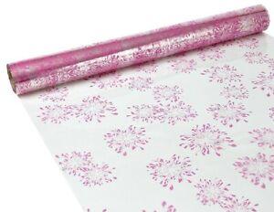 LORI PINK CELLOPHANE GIFT WRAP 1M,2M,3M,5M AND 100M BIRTHDAY, WEDDING, CHRISTMAS