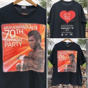 Gildan Muhammed Ali Boxing Double Sided 70th Birthday Party Promo T Shirt XL