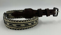 Vintage Braided Horse Hair and Leather Belt Size 30 Western Wear